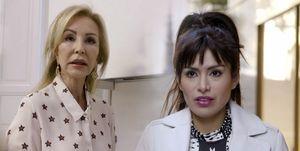 Carmen Lomana y Miriam Saavedra
