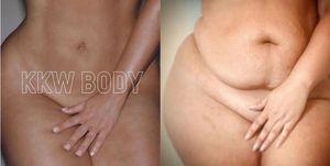 CarmenRene Kim Kardashian recreate KKW Body photo
