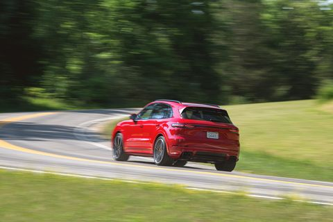 the 2021 porsche cayenne gts rockets down most any road with turbocharged v 8 power