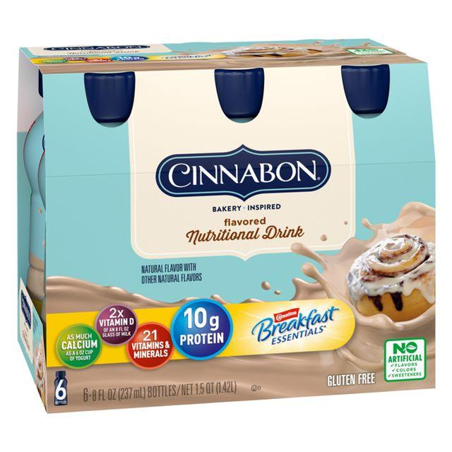carnation breakfast essentials cinnabon bakery cinnamon roll inspired flavored nutritional drink
