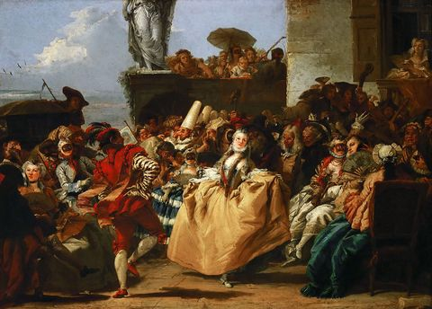 Carnival Scene (The Minuet). Artist: Tiepolo, Giandomenico (1727-1804)