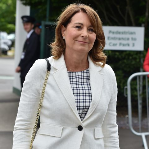 london, england   july 14  carole middleton seen at day 11 of wimbledon 2017 on july 14, 2017 in london, england  photo by hglgc images