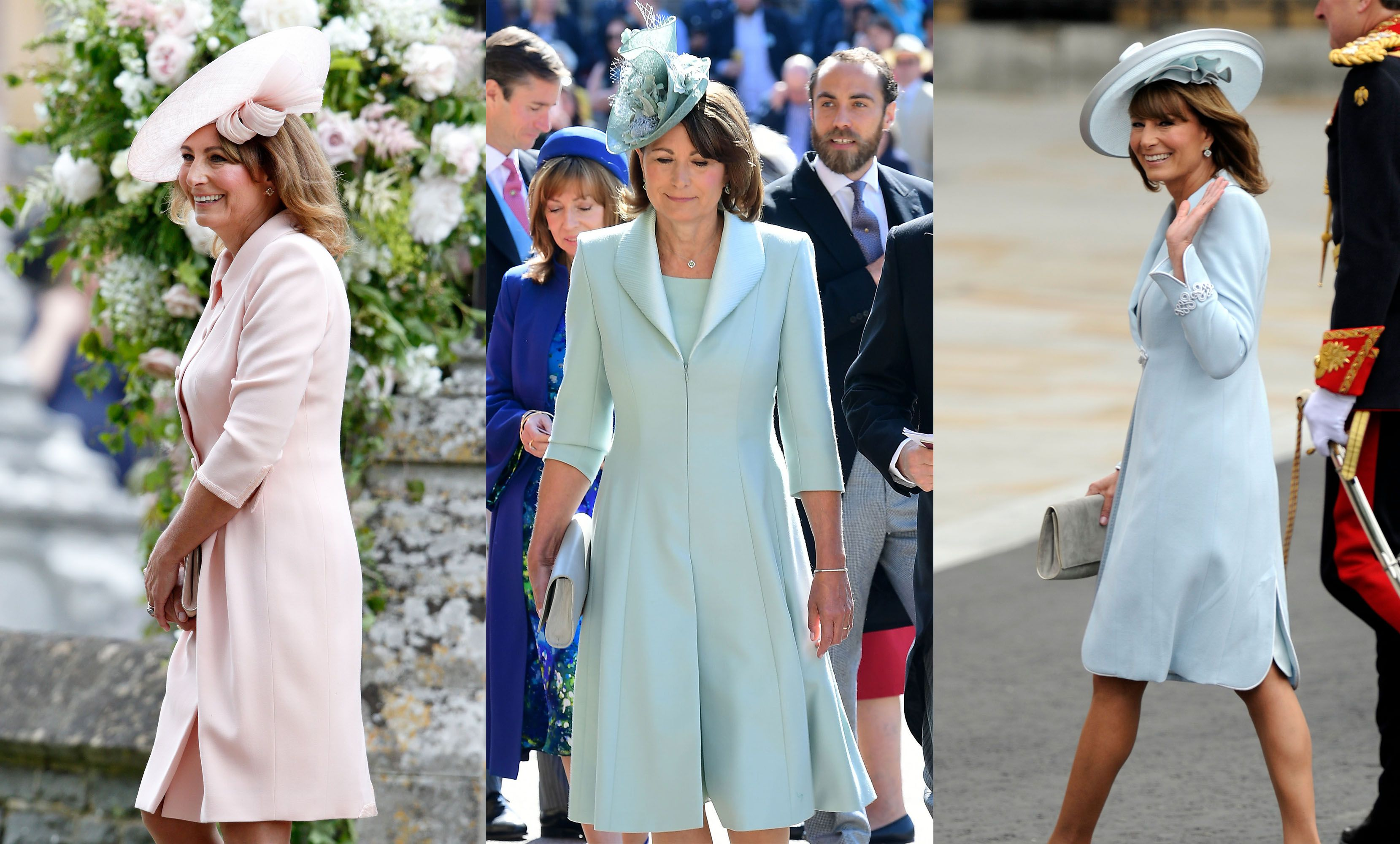 Carole Middleton Best Fashion Looks , Kate and Pippa