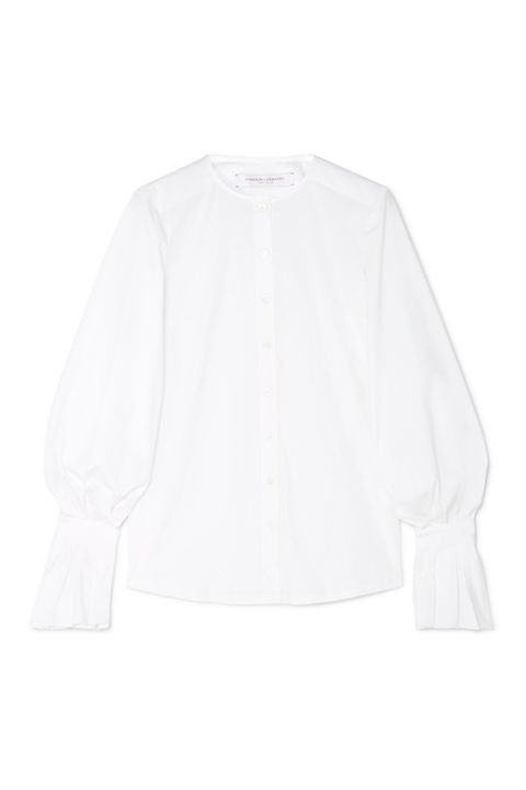 Clothing, White, Sleeve, Outerwear, Blouse, Shirt, Collar, Top, Neck, T-shirt,