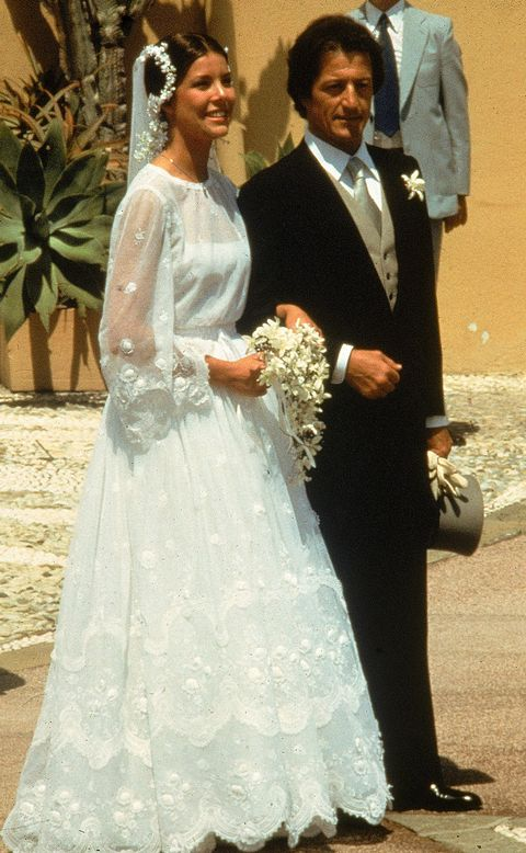 BodaCarolina de Mónaco y Philippe Junot