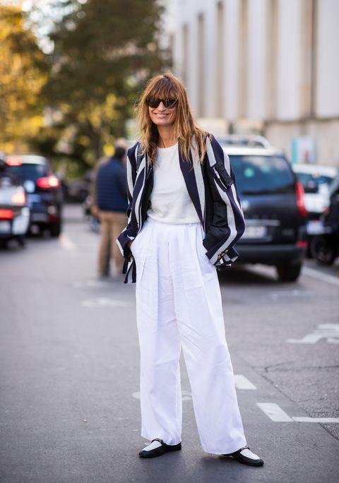 35 Looks En Pantalones Blancos