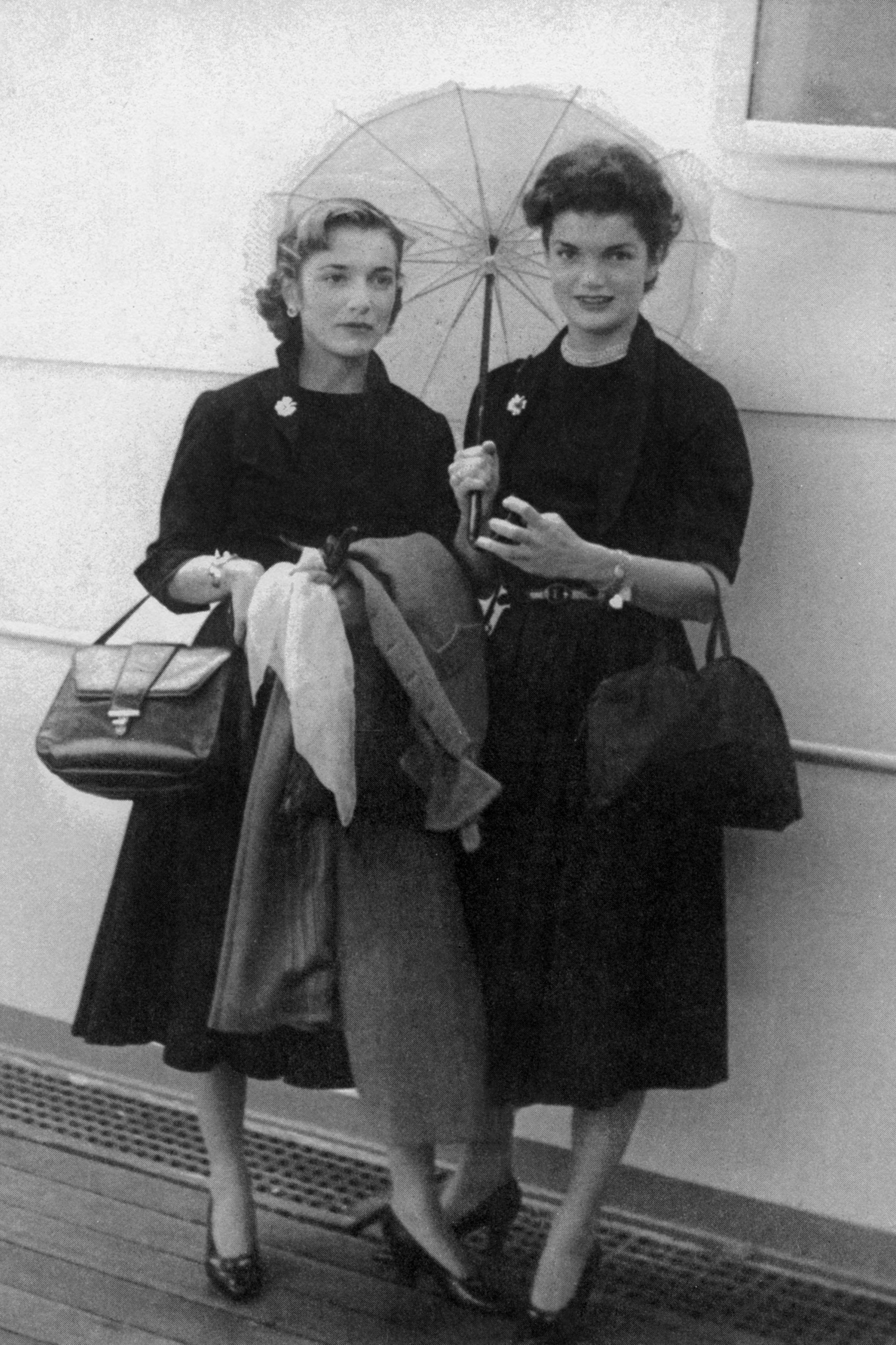 Jaqueline and her sister Lee are photographed after returning from studying in Europe.