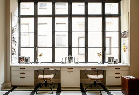 Furniture, Room, Interior design, Building, Table, Architecture, Window, Cabinetry, Desk, Hutch,