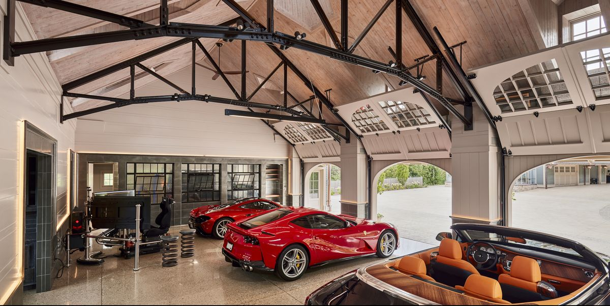 This Dream Garage Is a Four-Bay Carriage House