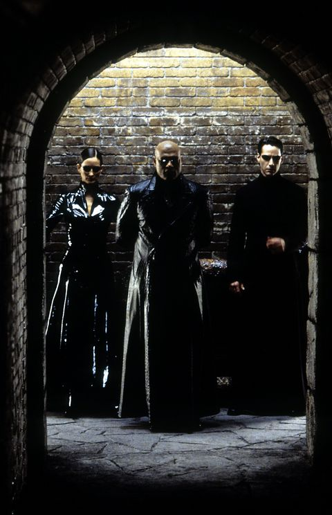 Laurence Fishburne and Keanu Reeves in 'The Matrix Reloaded'