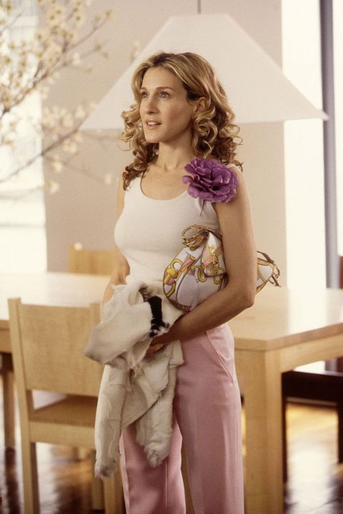 Carrie Bradshaw with her Saddle bag