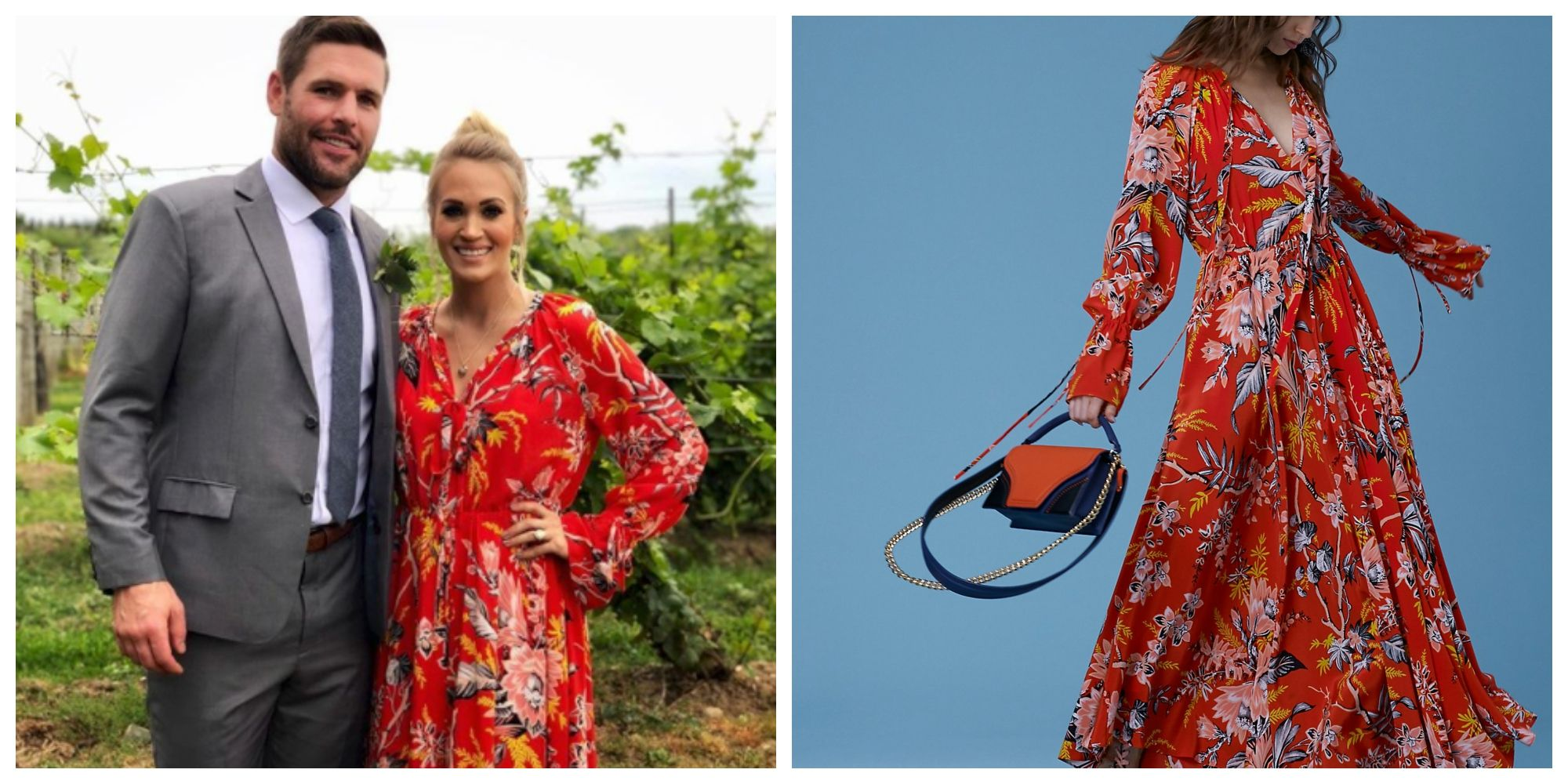 Shop Carrie Underwood S Dvf Maxi Dress Carrie Underwood Clothing