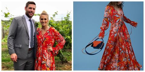 Shop carrie underwoods dvf maxi dress carrie underwood clothing carrie underwood wedding dress junglespirit Images