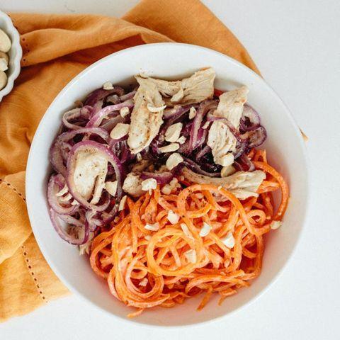 Carrot noodles.