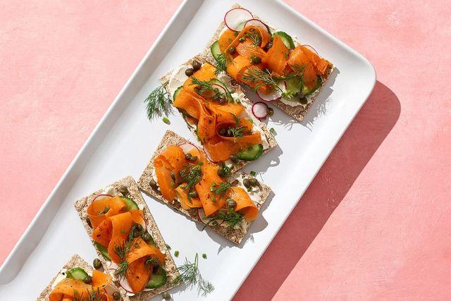 胡蘿蔔 小黃瓜 薯片 餐前小三明治