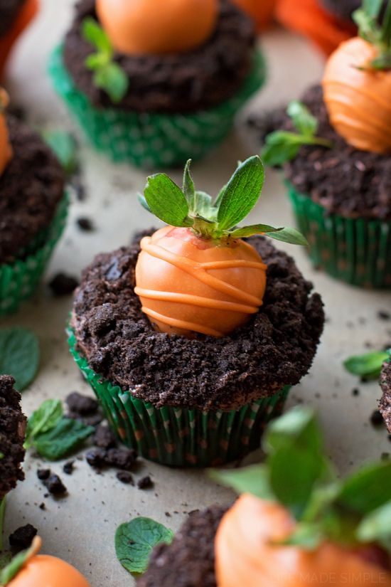 carrot patch easter cupcake