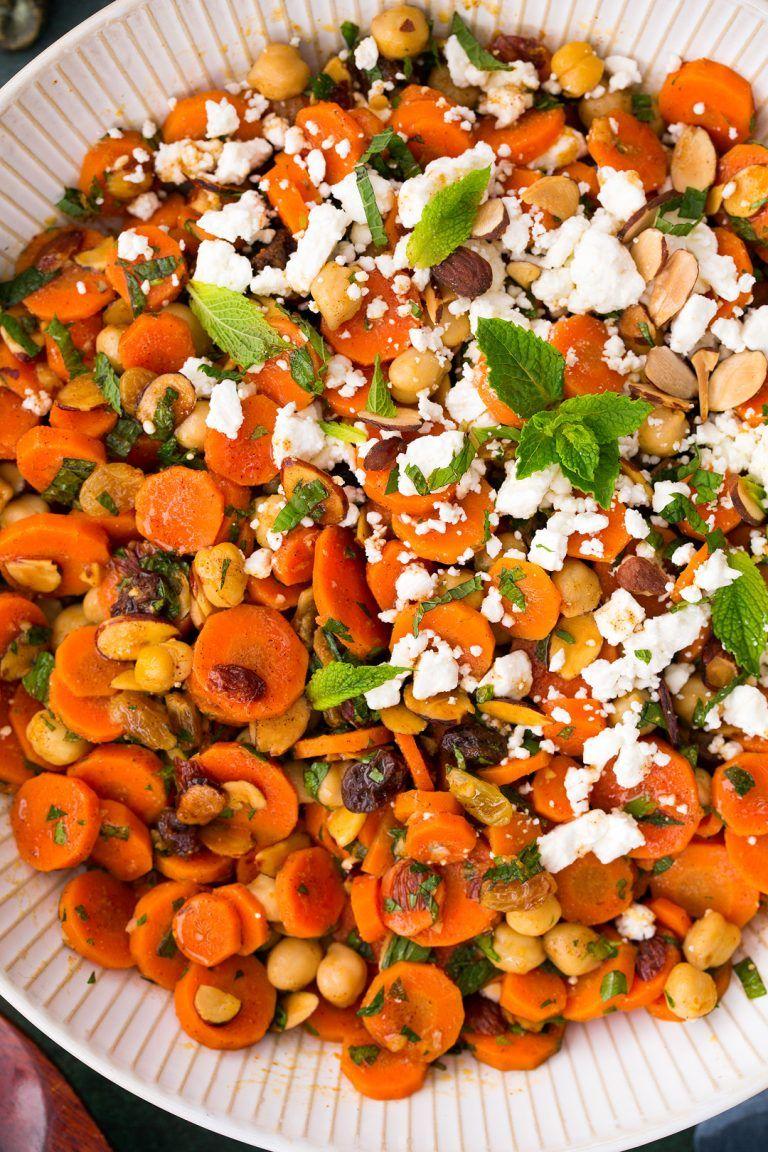 carrot recipes salad chick peas