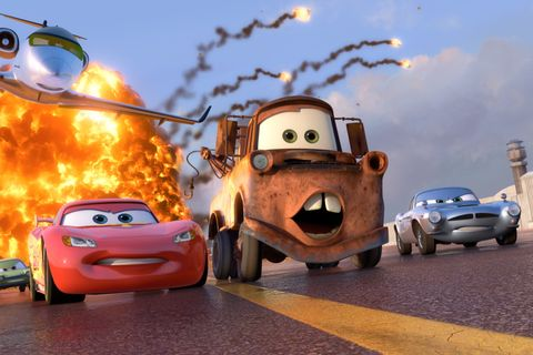 Animated cartoon, Vehicle, Animation, Mode of transport, Car, Cartoon, Sky, Automotive design, City car, Asphalt,