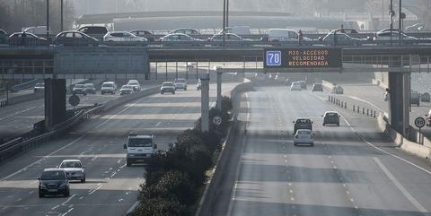 Air pollution alert in Madrid