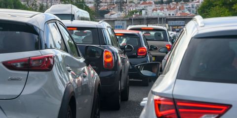 Traffic during Rush Hour in Lisbon