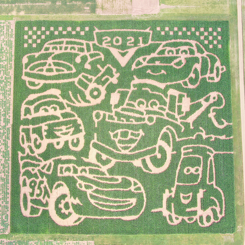 ramseyer farms cars corn maze