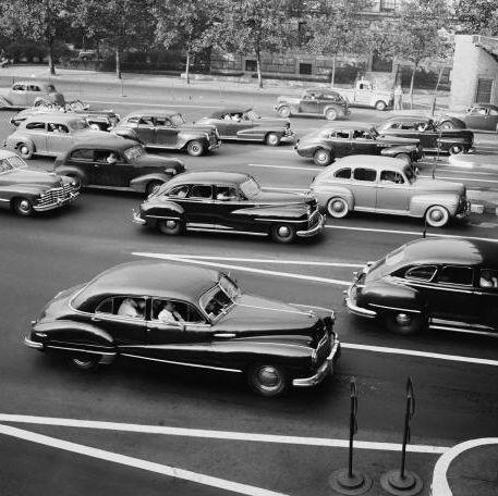 1950年代のハイウェイのクルマの渋滞