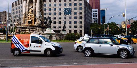 """Cars in """"Plaza de España"""" square..."""