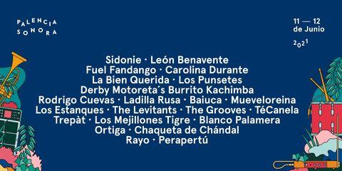 cartel de l festival de música palencia sonora