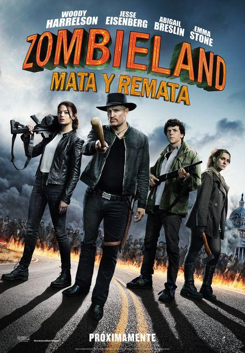 Ya hay cartel oficial de 'Zombieland: Mata y Remata'