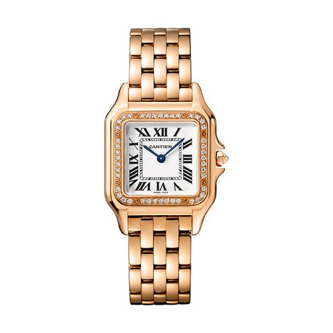 Watch, Analog watch, Watch accessory, Fashion accessory, Jewellery, Brand, Material property, Strap, Rectangle, Metal,