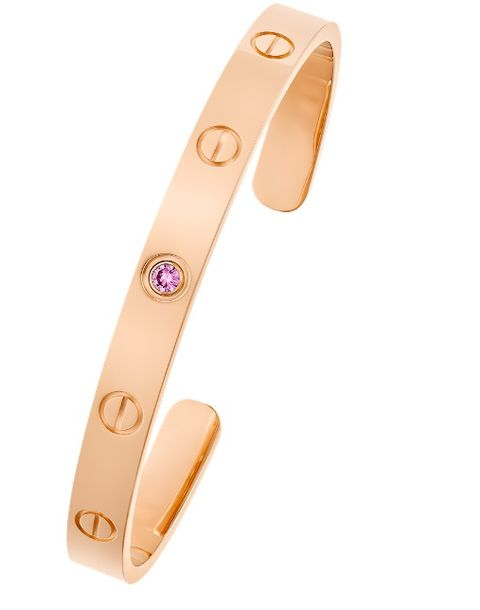cartier love bangle with pink sapphire