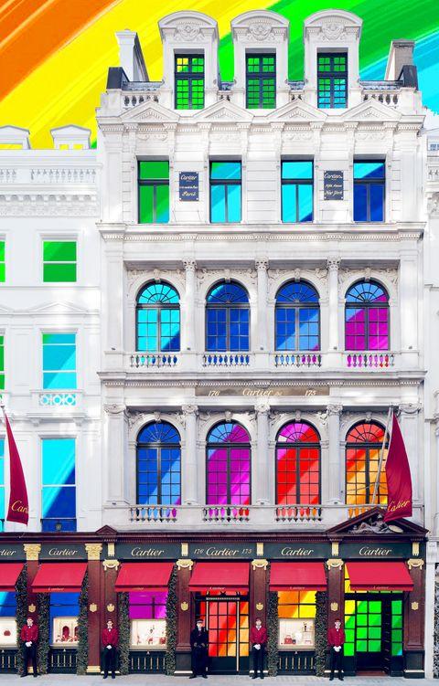 cartier rainbow window
