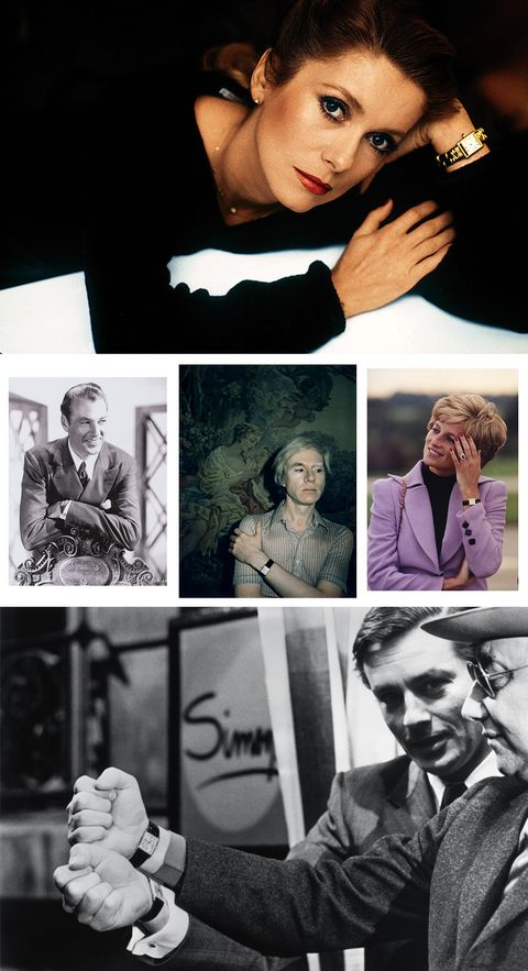 Cartier Tank Celebrities Princess Diana Alain Delon Garry Cooper Andy Warhol Catherine Deneuve