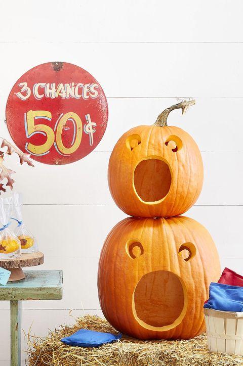 carved pumpkin faces idea