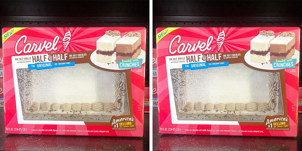 Carvel's New Half & Half Ice Cream Cake Will Give You An All-Vanilla Or All-Chocolate Slice