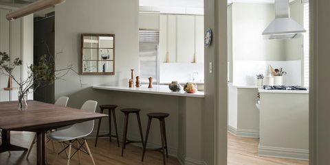 Wood, Room, Floor, Interior design, Flooring, Table, Ceiling, Furniture, Countertop, Hardwood,