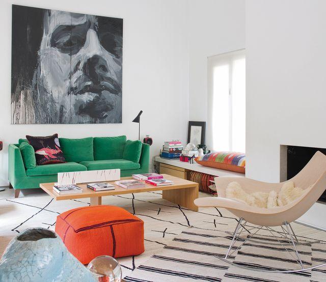 una casa moderna, acogedora y colorida a las afueras de madrid