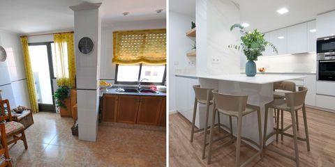 piso antes y después