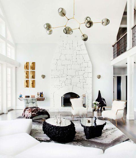 Lámpara de techo con globos de cristal