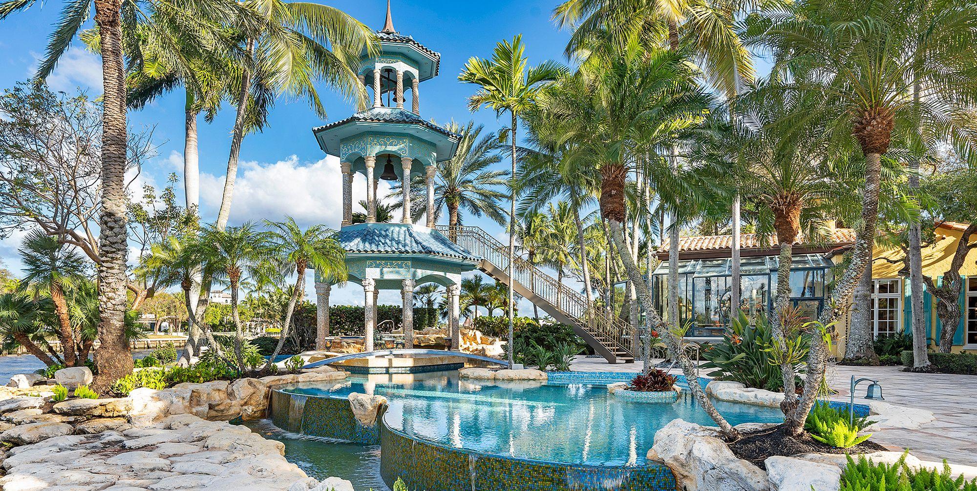 Piscina de la casa del fundador de Blockbuster en Florida