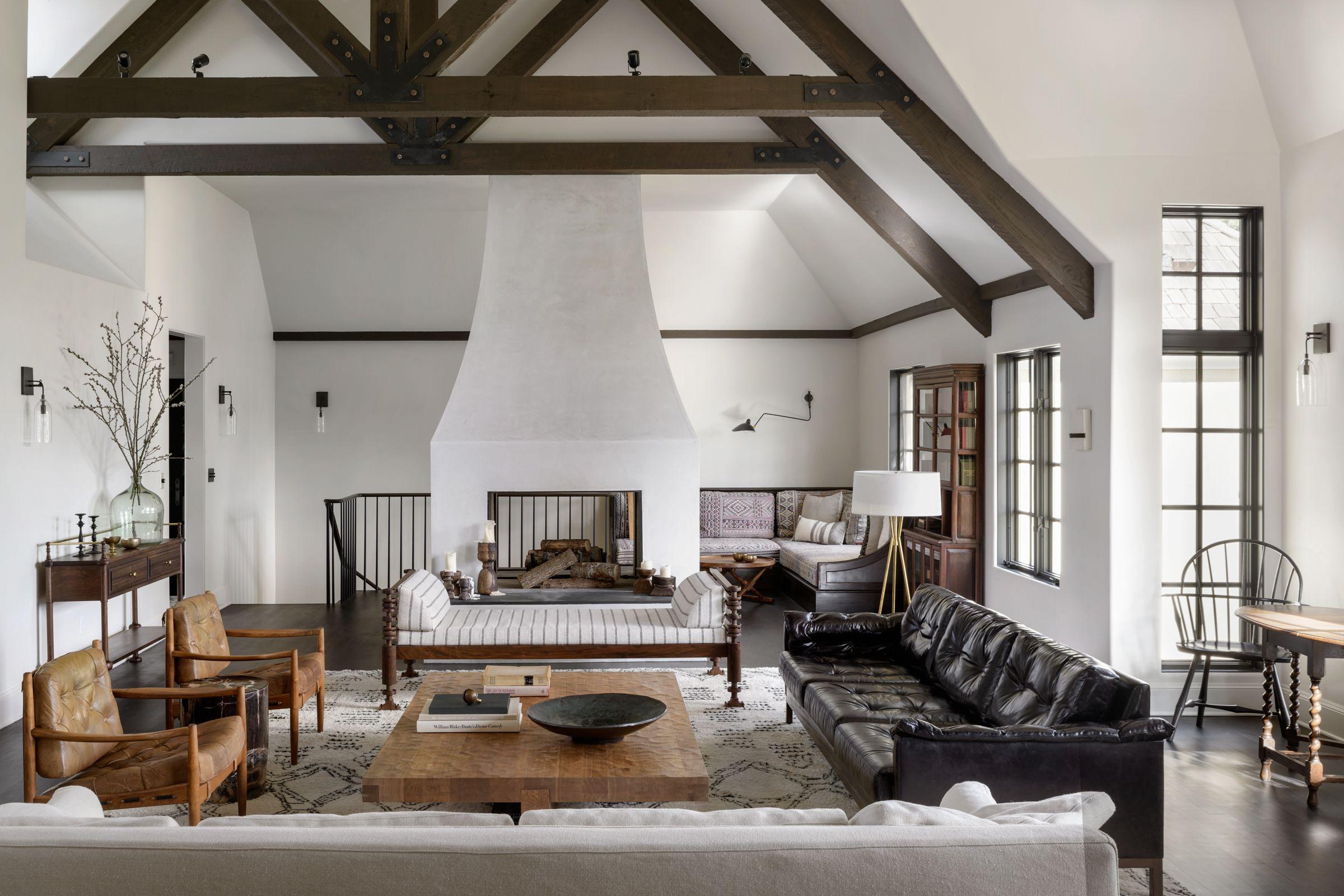 Una Casa De Campo De Estilo Rústico Moderno Para Una Familia