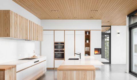 cocinas estilo nordico en blanco y madera