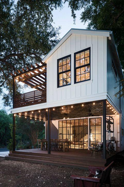 casa de campo rústica moderna con porche