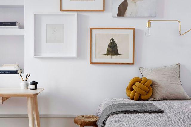 casa stile nordico, camera da letto