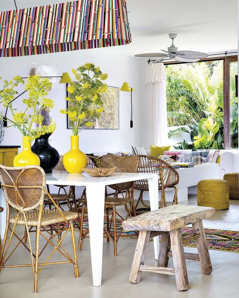 casa en ibiza moderna comedor y salón