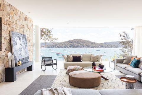 Una casa con playa privada
