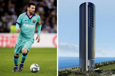 La casa de Leo Messi en Porsche Design Tower