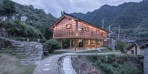 Property, Building, House, Natural landscape, Home, Log cabin, Architecture, Hill station, Estate, Real estate,