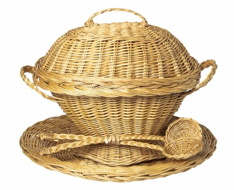 wicker tureen