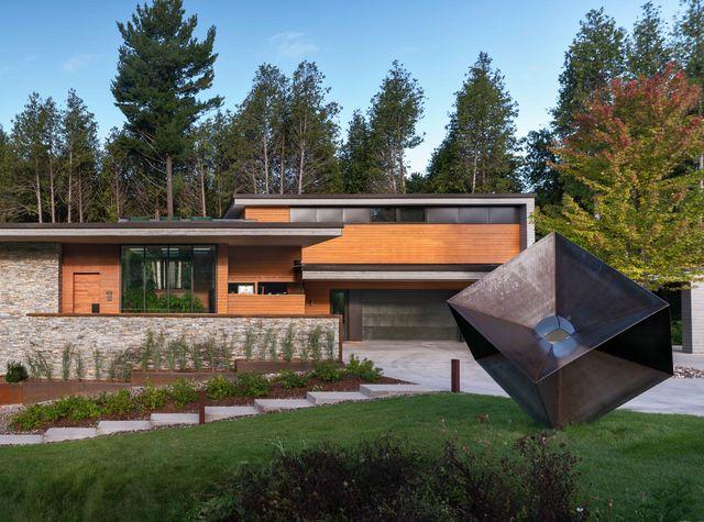 Una moderna caba a en el bosque - Ideas para construir casas campo ...